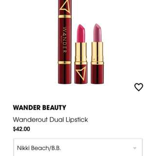 WANDER BEAUTY DUAL LIPSTICK IN NIKKI BEACH