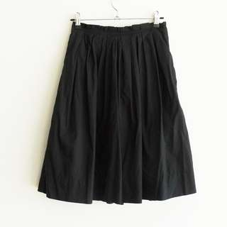 Cue Size 6 Black Pleat Skirt with Pockets Knee Length