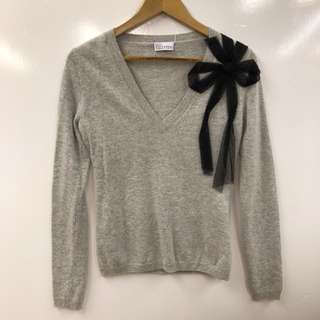 Red Valentino gray with black ribbon top size M