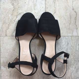 MANGO Black Suede Shoes