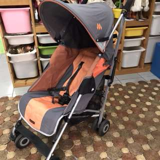 Maclaren Quest Sport Stroller Charcoal and Flame Orange