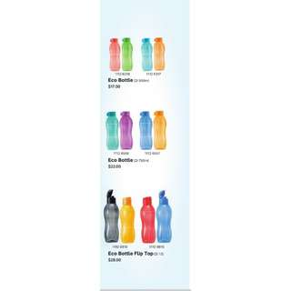 $6.50 (Different sizes) Tupperware ECO Bottles