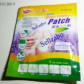 Vita Realm Wood Vinegar Detox Soles Foot Pads Patch Patches Vitarealm Detoxing Healthy Removes Waste Toxins Sellzabo