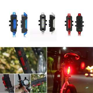 Waterproof 4 Modes LED USB rechargeable Mountain Bike Bicycle Rear Tail Light Back Lamp RED