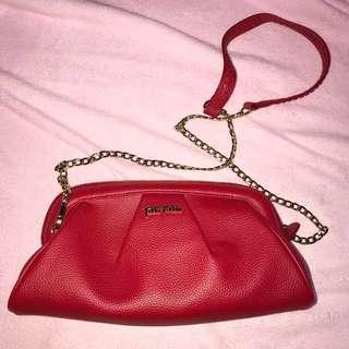 Folli follie 紅色 手拎袋 斜孭袋 斜背包