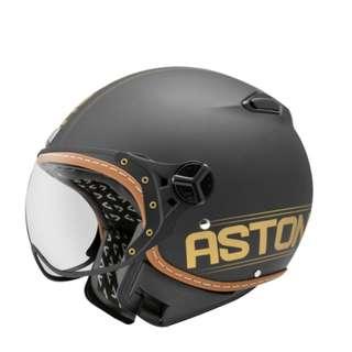 ASTONE KSR-DD52金/黑/紫 消光黑/亮面黑/亮面白 來自法國 3/4罩飛行員安全帽 W鏡片 內襯三角全可拆