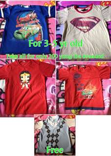 branded shirt for baby boy 3-5 yr old