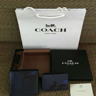 AUTHENTIC COACH WALLET SIGNATURE COATED CANVAS