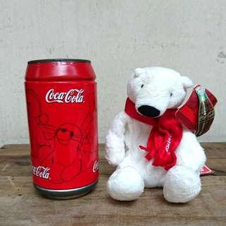 Coca Cola Polar Bear Plush in a can Collectible
