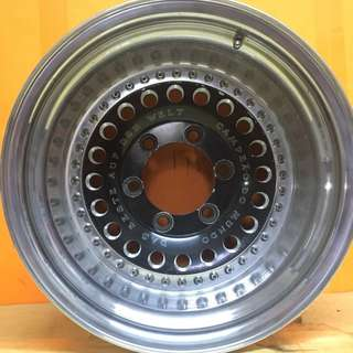 15 inch SPORT RIM 4x4 CAMPRAO DO MUNDO ORIGINAL MADE IN JAPAN WHEELS