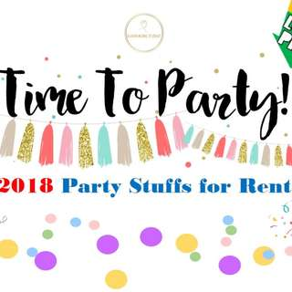 Party Props for Rent 2018, starts from 50 cents!