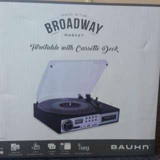 Brand New Broadway Turntable with Cassette Deck