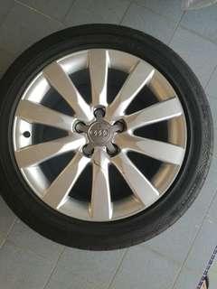 18 inch Original Audi A4 Rims & Tyres - 5 holes PCD112