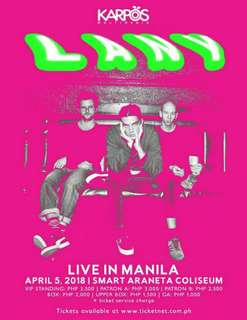 LOOKING FOR LANY TICKET LIVE IN MANILA 2018