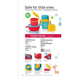 15% off retail prices! Tupperware Twinkle Totz / Kidz Set