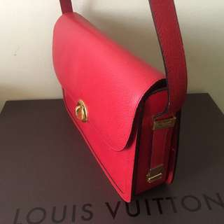 Authentic esquire red genuine leather elegant and classy bag perfect for christmas gift