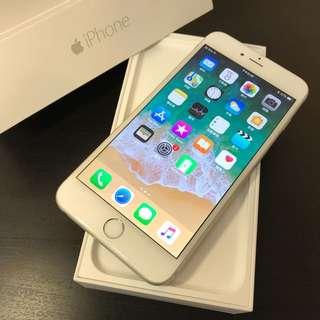 銀色iPhone6 Plus 16G新電池 附 盒裝 充電頭跟線(不換機)高雄鳳山面交可