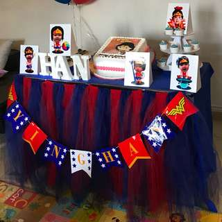 Tutu table clothes birthday decorations