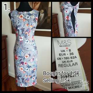 M&S Floral Dress
