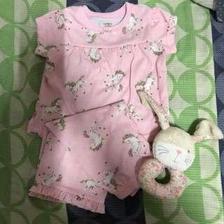 Carter's Pink Pony Pajama Set