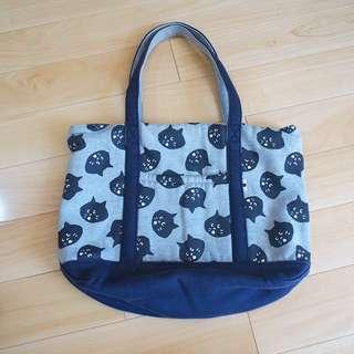 日本限定ne-net貓貓手挽袋tote bag布