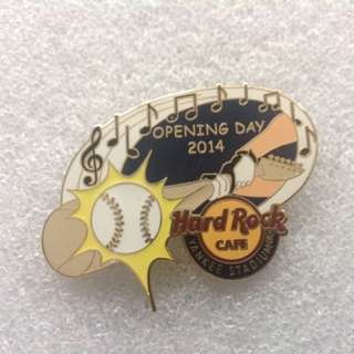 Hard Rock Cafe Pins - YANKEE STADIUM HOT 2014 BASEBALL OPENING DAY!