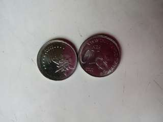 Malaysia Off Center Coin 10 Sen 2012 & 2014