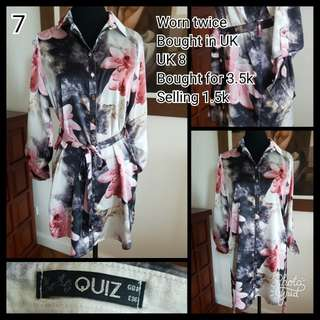 Quiz Floral Silk Dress