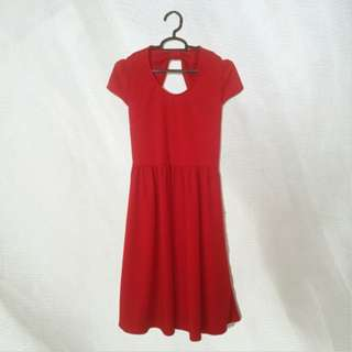 Chic Simple Red Bow Dress