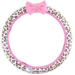 [租約期满 開倉大清貨] 日本直送 Hello Kitty Pink Leopard Steering Wheel Cover