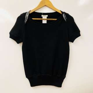Chloe black short sleeves top size XS