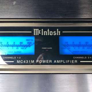 Mcintosh car power amplifier - blue meters