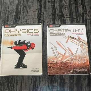 Physics and chemistry textbooks