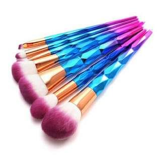 Unicorn brushes set