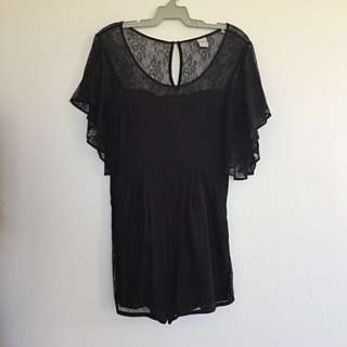 Finders Keepers Lace Playsuit