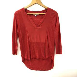 Sandro red top size 2