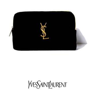 Ysl parfums velvet cosmetic pouch (black)