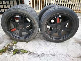 "Rim Te37SL 16"" PCD114 with Tayar"