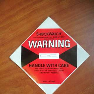 Shock watch label