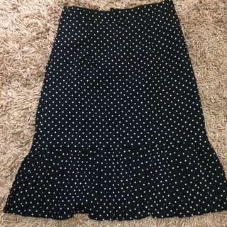 Skirt mermaid polkadot