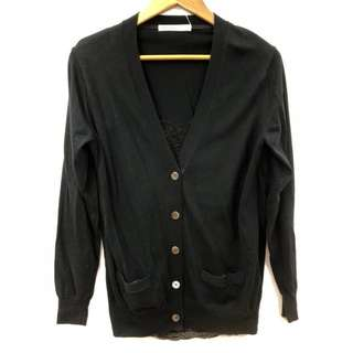 Sacai luck black with lace cardigan style top size 2