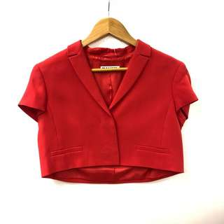 Jil Sander red small shirt cardigan size 36