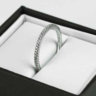 Michael Hill 14kt White Gold 0.18ct Diamond Set Womens Wedding Band