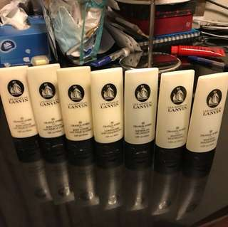 Lanvin travelling size shampoo, conditioner, body lotion and shower gel