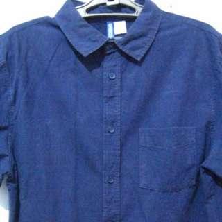[ORI] H&M Navy Blue Shirt