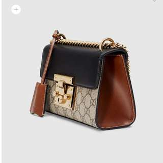 Authentic Gucci padlock small shoulder bag