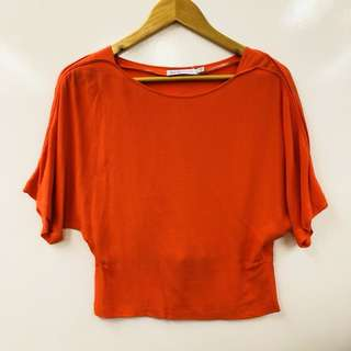 See By Chloe red top size 36