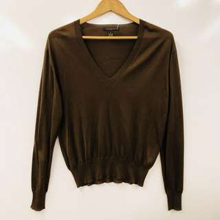 LV louis vuitton brown top sweater size S