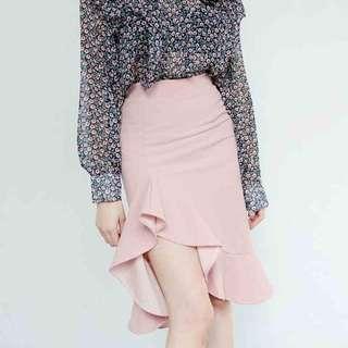 韓國 冬季高腰半身魚尾裙