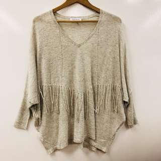 Sandro light gray sweater size 2